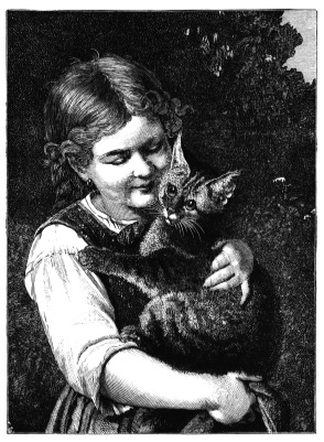 Elspeth P. Meowington and her cat, Mr. Butters.